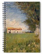 Farmhouse In A Wheat Field Spiral Notebook