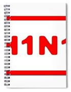 H1n1 Sign Spiral Notebook