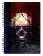 Halloween Mask Spiral Notebook