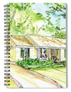 House Rendering Spiral Notebook