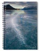 Ice Pattern On Frozen Abraham Lake Spiral Notebook