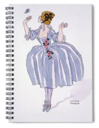 Illustration For 'fetes Galantes' Spiral Notebook