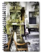 Inside The Historic Jewish Synagogue In Cochin Spiral Notebook