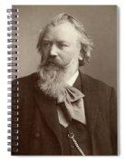 Johannes Brahms (1833-1897) Spiral Notebook