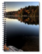 Lake In Autumn Sunrise Reflection Spiral Notebook