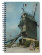 Le Moulin De La Galette Spiral Notebook