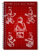 Lego Figure Patent 1979 - Red Spiral Notebook