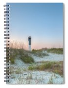 Sullivan's Island Dunes To Lighthouse View Spiral Notebook