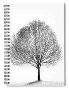 White Night Spiral Notebook