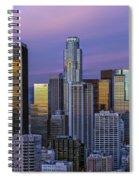 Los Angeles Skyline Sunset Spiral Notebook