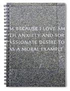 Martin Luther King Jr Memorial Spiral Notebook
