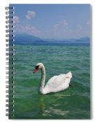 Mute Swan. Sirmione. Lago Di Garda Spiral Notebook