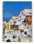 Oia Town Spiral Notebook