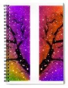 4-panel Snow On The Colorful Cherry Blossom Trees Spiral Notebook