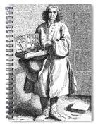Paris Street Vendor, C1740 Spiral Notebook