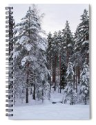 Pine Forest Winter Spiral Notebook