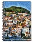 Plomari Town Spiral Notebook