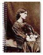 Portrait Of Jane Morris Spiral Notebook