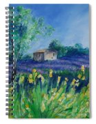 Provence Lavender Field Spiral Notebook