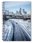 Rare Winter Scenery Around Charlotte North Carolina Spiral Notebook