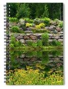 Rocks And Plants In Rock Garden Spiral Notebook