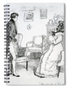 Scene From Pride And Prejudice By Jane Austen Spiral Notebook