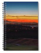 Seattle Skyline Waterfront Spiral Notebook