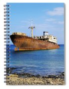 Shipwreck On Lanzarote Spiral Notebook