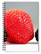 Strawberry Blackberry Spiral Notebook