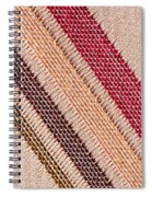 Striped Material Spiral Notebook