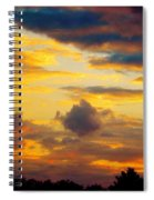 Sunset Sky By Artist Nature Spiral Notebook