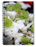 Sushi California Roll Spiral Notebook