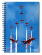The Red Arrows  Spiral Notebook