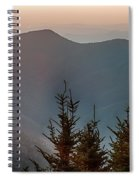 The Simple Layers Of The Smokies At Sunset - Smoky Mountain Nat. Spiral Notebook