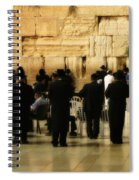 Praying At The Western Wall Spiral Notebook