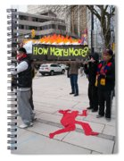 Tibetan Protest March Spiral Notebook