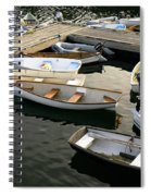 View Of Boats At A Harbor, Rockland Spiral Notebook