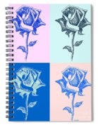 4 Warhol Roses By Punt Spiral Notebook