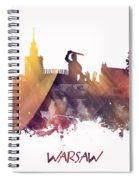 Warsaw City Skyline Spiral Notebook