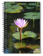 Pond Of Water Lily Spiral Notebook