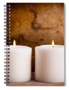 White Candles Spiral Notebook