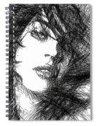 Woman Sketch Spiral Notebook