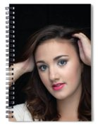 Woman Smiling Spiral Notebook
