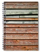 Wooden Panels Spiral Notebook