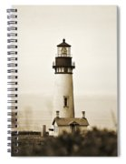 Yaquina Head Lighthouse - Sepia Texture Spiral Notebook