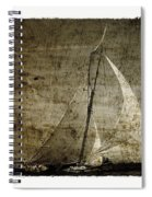 40 Sailboat - With Open Wings In A Grunge Background  Spiral Notebook