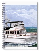 42 Foot Grand Banks Motoryacht Spiral Notebook