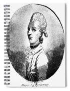 Marquis De Lafayette Spiral Notebook