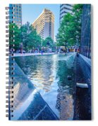 Skyline And City Streets Of Charlotte North Carolina Usa Spiral Notebook