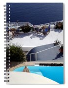 Views Of Santorini Greece Spiral Notebook